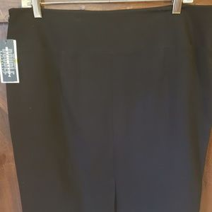 Rafaella Stretch Black Pencil Skirt Sz 14 NWT